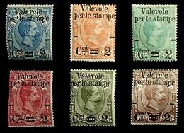Italy 1890 Sas 50-55  ** MNH Signed Silvano/Manuela Sorani-Original Gum (002861) - Ungebraucht