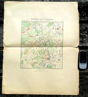 BATAILLE DE LA LISAINE Jan 1871 GUERRE 1871-72 COMBAT Env Montbéliard Belfort Héricourt Audincourt PLAN MILITAIRE R193 - Montbéliard