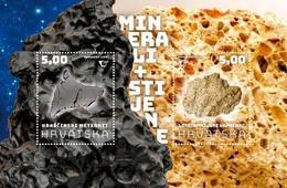 Croatia 2020 SS MNH MINERALS AND ROCKS Hraschina Meteorite. Litavac - Minerals