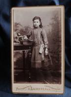 Photo CDV  Lagriffe à Paris  Petite Fille  Album Photos  CA 1890 - L527I - Oud (voor 1900)