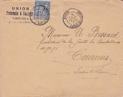 Lettre De Mâcons Pour Tournus Janvier  1891 - 1877-1920: Periodo Semi Moderno