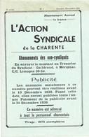 L'Action Syndicale De La Charente 8ème Année N°1 Oct-nov 1939 (quelques Articles Censurés) - 1900 - 1949