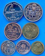 GUIANA SERIE 7 MONETE 10-5 1- DOLLARO 25-10-5-1 CENT. FDC UNC - Guyana