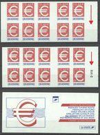 N°3215-C1 Y.T. France Neuf ** Timbre EURO 3 Fr.-0.46 Euros Rouge & Bleu Autoadhésif - Standaardgebruik