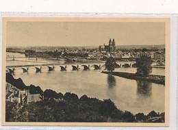 CPA 2. Tours Vue Générale Le Pont De Pierre Sur La Loire Et La Cathédrale Circulée Timbre Tampon - Tours