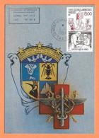 CARTE MAXIMUM TAAF DUMONT D'URVILLE TERRE ADÉLIE 1/1/1997 - Y & T N° 219 - SERVICE De SANTÉ Des ARMÉES - Cartas