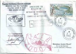 YT 231 - Réhabilitation écologique De Saint Paul - Posté à Bord Du MD - Martin De Viviès - 05/01/2000 - Cartas