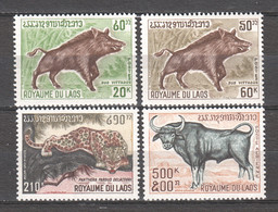 Laos 1970 Mi 291-294 MNH WILDLIFE ANIMALS - Autres