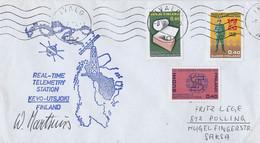 Finland Brief Uit Ivalo 8-7-75 Met 3 Zegels (654) - Cartas