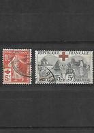 373 LOT CROIX ROUGE 1914-1918 YT 146 Et 156 Oblitérés - Gebraucht
