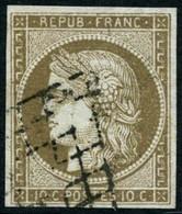 Oblit. N°1b 10c Bistre Verdâtre - TB - 1849-1850 Cérès