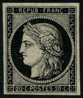 ** N°3a 20c Noir S/blanc - TB - 1849-1850 Cérès