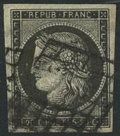 Oblit. N°3c 20c Gris-noir - TB - 1849-1850 Cérès