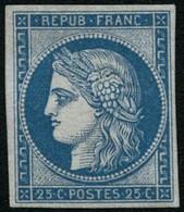 * N°4d 25cbleu, Réimp - TB - 1849-1850 Cérès