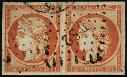 Oblit. N°5 40c Orange, Paire - TB - 1849-1850 Cérès