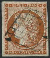 Oblit. N°5a 40c Orange Vif, Signé Calves - TB - 1849-1850 Cérès