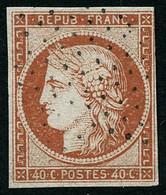 Oblit. N°5a 40c Orange Vif, Petites Marges - B - 1849-1850 Cérès