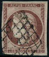 Oblit. N°6 1F Carmin, Signé Calves - TB - 1849-1850 Cérès