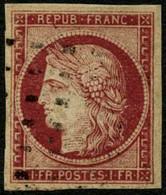 Oblit. N°6 1F Carmin Foncé - TB - 1849-1850 Cérès