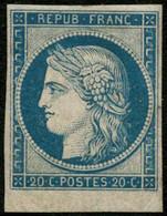 ** N°8F 20c Bleu Réimp - TB - 1849-1850 Cérès