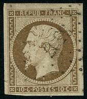 Oblit. N°9 10c Bistre, Signé Calves - TB - 1852 Louis-Napoleon
