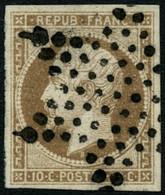 Oblit. N°9 10c Bistre - TB - 1852 Louis-Napoleon