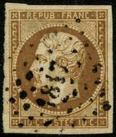 Oblit. N°9a 10c Bistre-brun - TB - 1852 Louis-Napoleon