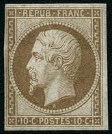 ** N°9e 10c Bistre Réimp - B - 1852 Louis-Napoleon