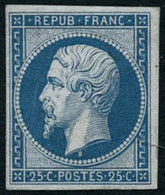 ** N°10c 25c Bleu, Réimp - TB - 1852 Louis-Napoleon