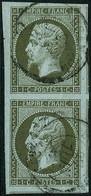 Oblit. N°11 1c Olive, Paire Pièce De Luxe - TB - 1853-1860 Napoleon III