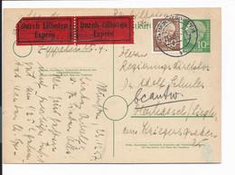 Bund P 26 - 10 Pf Heuß M. 60 Pf Zusatz Per Eilboten Von Münster Nach Oberkassel Bedarfsverwendet - Postales - Usados