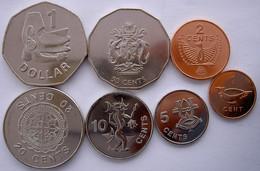SOLOMON ISLAND SERIE 7 MONETE 1$ 50-20-10-5-2-1 CENT. FDC UNC - Solomon Islands