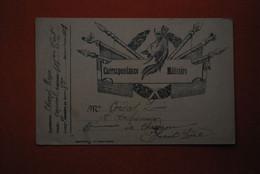 """1915  - Carte Franchise """"Correspondance Militaire """"  6 Drapeaux Unicolores Et Casque - Guerre 1914-18"""