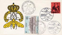 Enveloppe 1418 Werl Internationale Meeting Aviation Avion Airplane Aircraft Semper Labora - Cartas