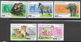 Spanish Sahara   1996  5 Diff Wildlife  MNH  Chimpanzees, Zebras, Elephants Lions, Antelopes - Chimpanzees