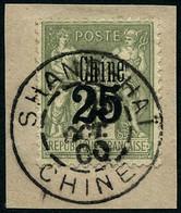 Oblit. N°18 25 S/1F Vert-bronze - TB - Non Classés