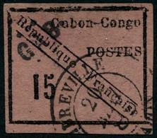 Oblit. N°14 15c Noir S/rose Sans Aminci - TB - Non Classés
