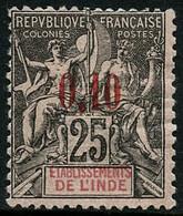 ** N°21 0,10 Sur 25c Noir S/rose - TB - Non Classés