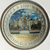 AL20007.4J - ALLEMAGNE - 2 Euros Commémo. Colorisée Mecklenburg-Vorpommern - 2007 J - Duitsland