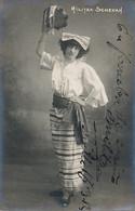Real Photo Autograph Militza Schevah Indian Dancer . Autographe . Dédicace - Entertainers