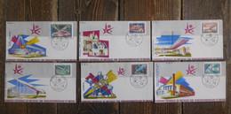 F.D.C. Lot 6 Enveloppes Illustrées Expo 58 Bruxelles - 1951-60