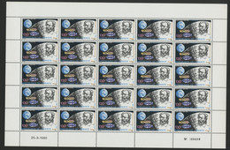 DJIBOUTI N° 524 COTE 95 € FEUILLE COMPLETE DE 25 EXEMPLAIRES NEUFS ** (MNH) JULES VERNE. TB - Writers