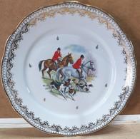ASSIETTE Porcelaine Pour DECORATION « Equipage Chasse à Courre » - Plates
