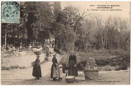 CPA 29 - LOCQUENOLE (Finistère) - 3522. Le Chemin Creux De Saint-Julien (animée). Ed Villard - Otros Municipios
