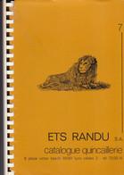ETS RANDU S.A. Lyon, Catalogue De 129 Pages De Quincaillerie Et Outillage Très Détaillé + Catalogue Outils Wolf - F. Bomen & Struiken