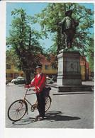 COPENHAGUE Statue Du Roi Christian IV,  Facteur En Vélo Ancien, Ed. Kruger, Vers 1990 - Denmark