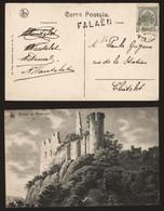 Belgique 1910 - Griffe Falaen Sur Carte Postale Vers Chatelet - Linear Postmarks