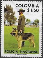 COLOMBIA 1976 National Police - 1p50 Police Dog And Handler FU - Kolumbien