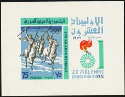 SYRIA 1972 Summer Olympic Games In Munich Sports Warriors On Horseback Horses Animals Fauna MNH - Horses