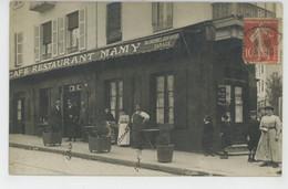 MARSEILLE - Belle Carte Photo Animée Devanture CAFÉ RESTAURANT MAMY écrite En 1909 - Zonder Classificatie